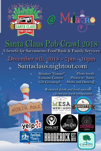 Santa Claus Pub Crawl at Milagro Center