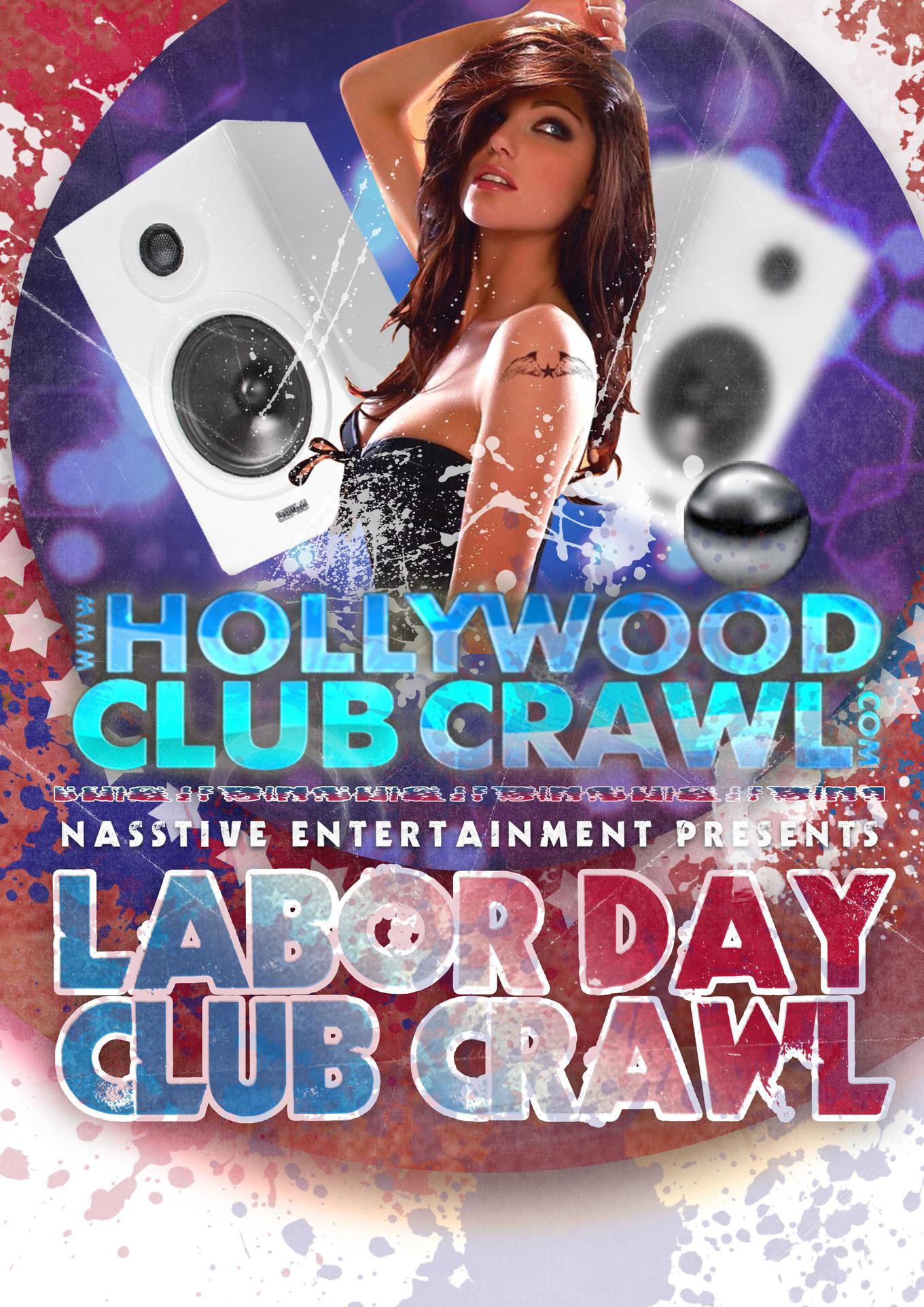 HOLLYWOOD LABOR DAY SUNDAY BAR & CLUB CRAWL TICKETS ARE NOW