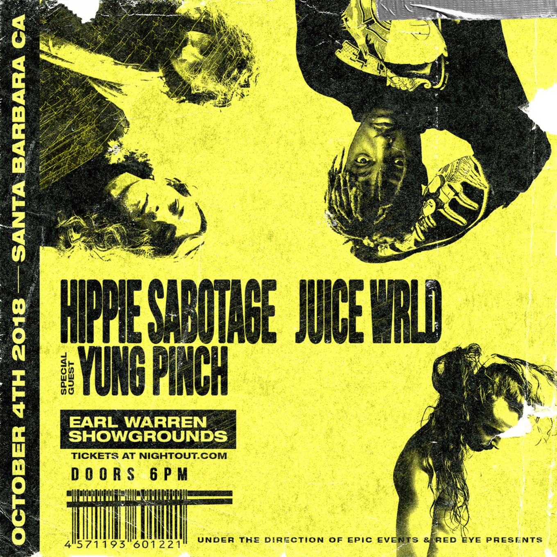 caf22fd3f3e3a 10.04 - JUICE WRLD + HIPPIE SABOTAGE + YUNG PINCH   Earl Warren Showgrounds  (Santa Barbara