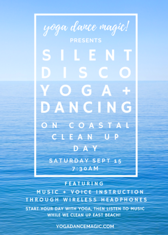 Silent Disco Yoga & Beach Cleanup