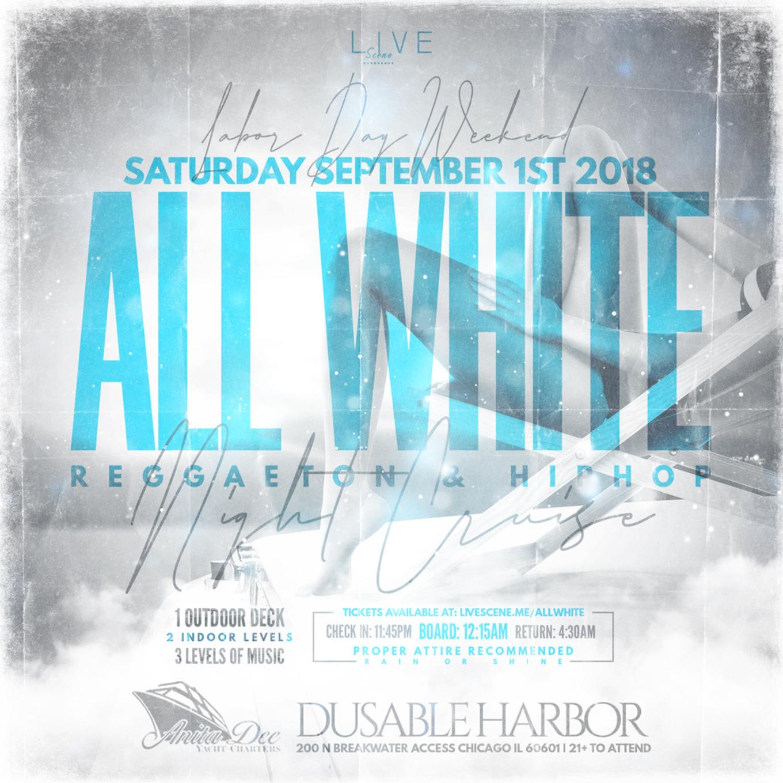 All White Reggaeton Yacht Party - Tickets - Anita Dee II