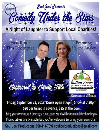 Comedy Night Charity Show at Indian Acres Medford NJ