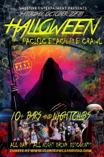 PACIFIC BEACH HALLOWEEN PUB CRAWL