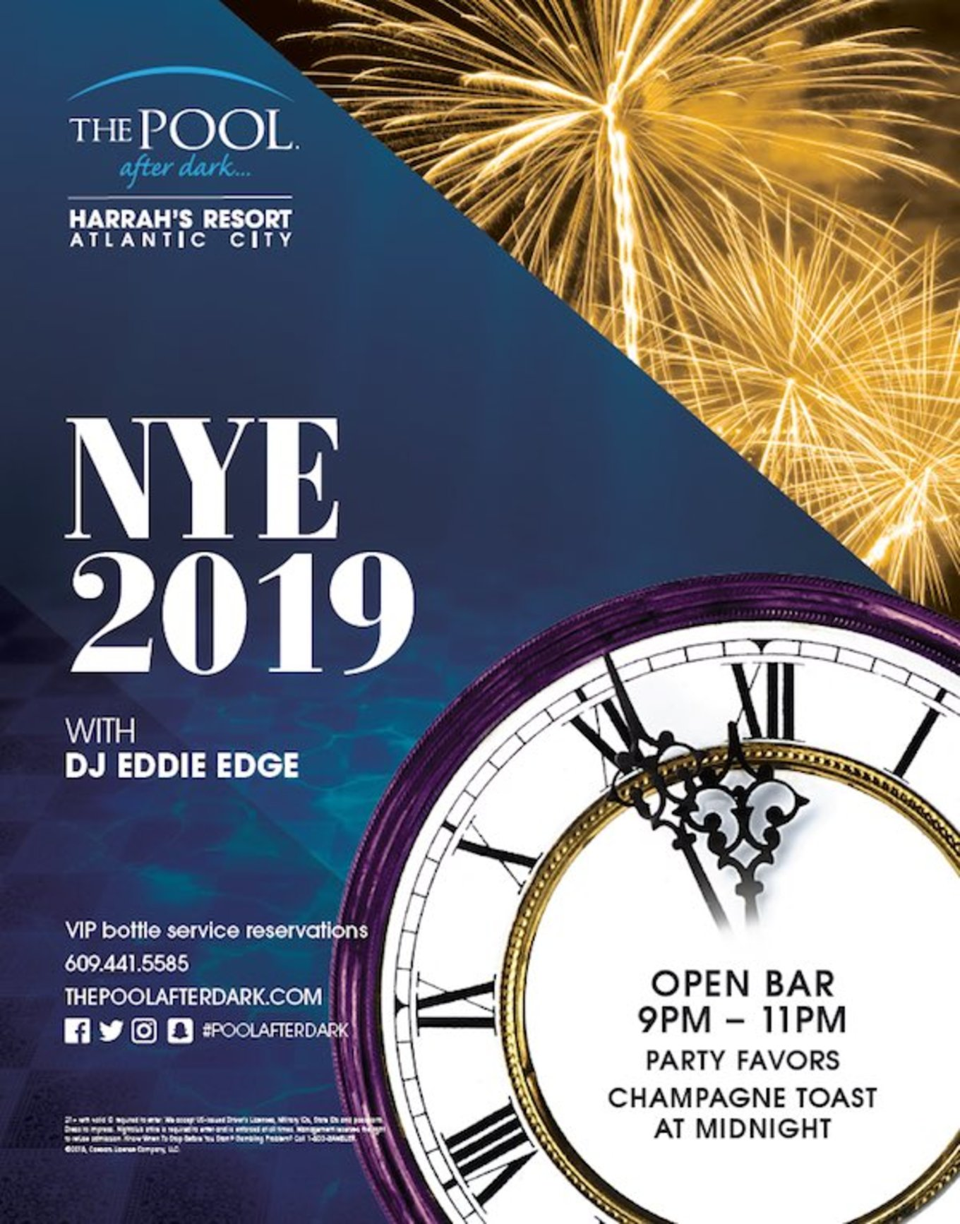 New Years Eve 2019 - Tickets - The Pool After Dark, Atlantic City, NJ - December 31, 2018