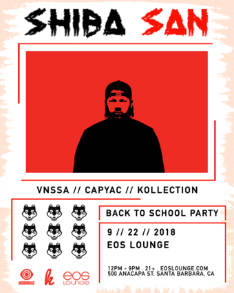 Back to School Party ft. Shiba San at EOS Lounge 9.22.18