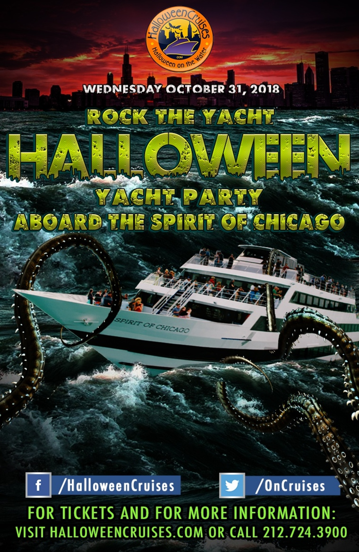 rock the yacht halloween yacht party aboard the spirit of chicago