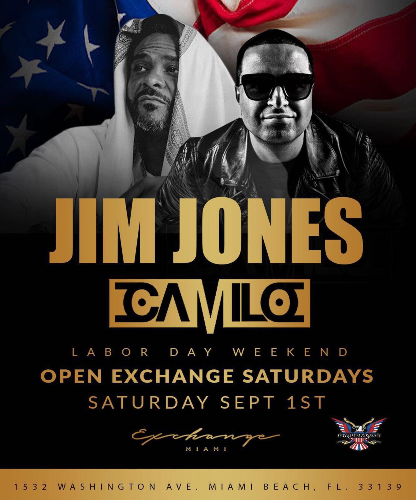 Labor Day Weekend Jim Jones Live With Dj Camilo At Exchange Miami