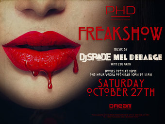 Freakshow Halloween Party at PHD Dream Downtown