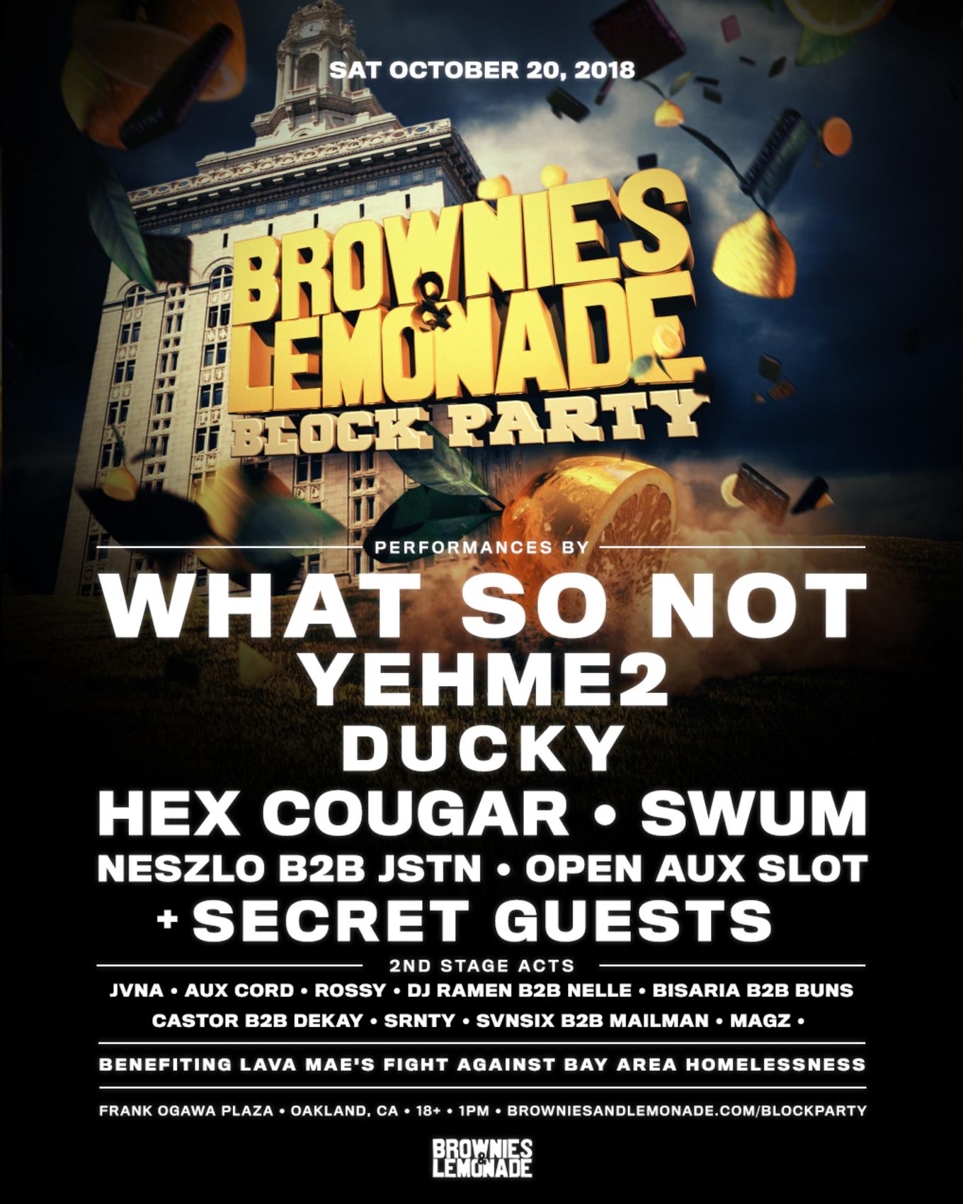Brownies Lemonade Block Party Bay Area Tickets Frank Ogawa