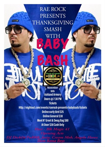 Rae Rock Presents Thanksgiving Smash with Baby Bash
