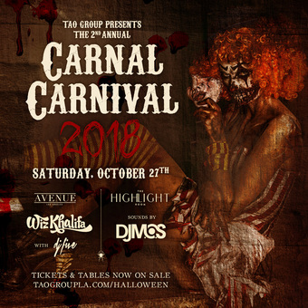 TAO Group presents CARNAL CARNIVAL 2018