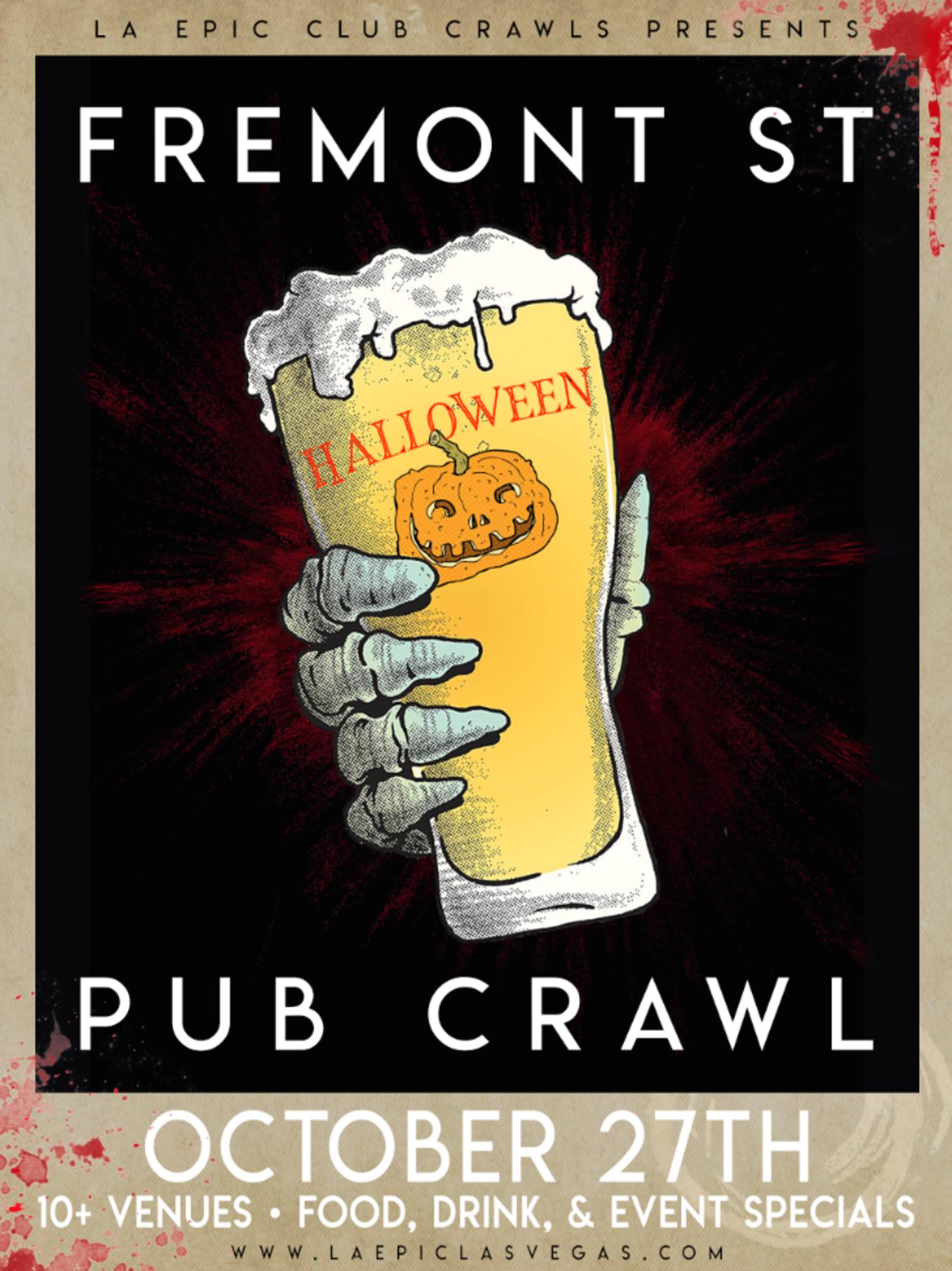 Fremont Street Halloween Pub Crawl - Tickets - Mickie Finzz