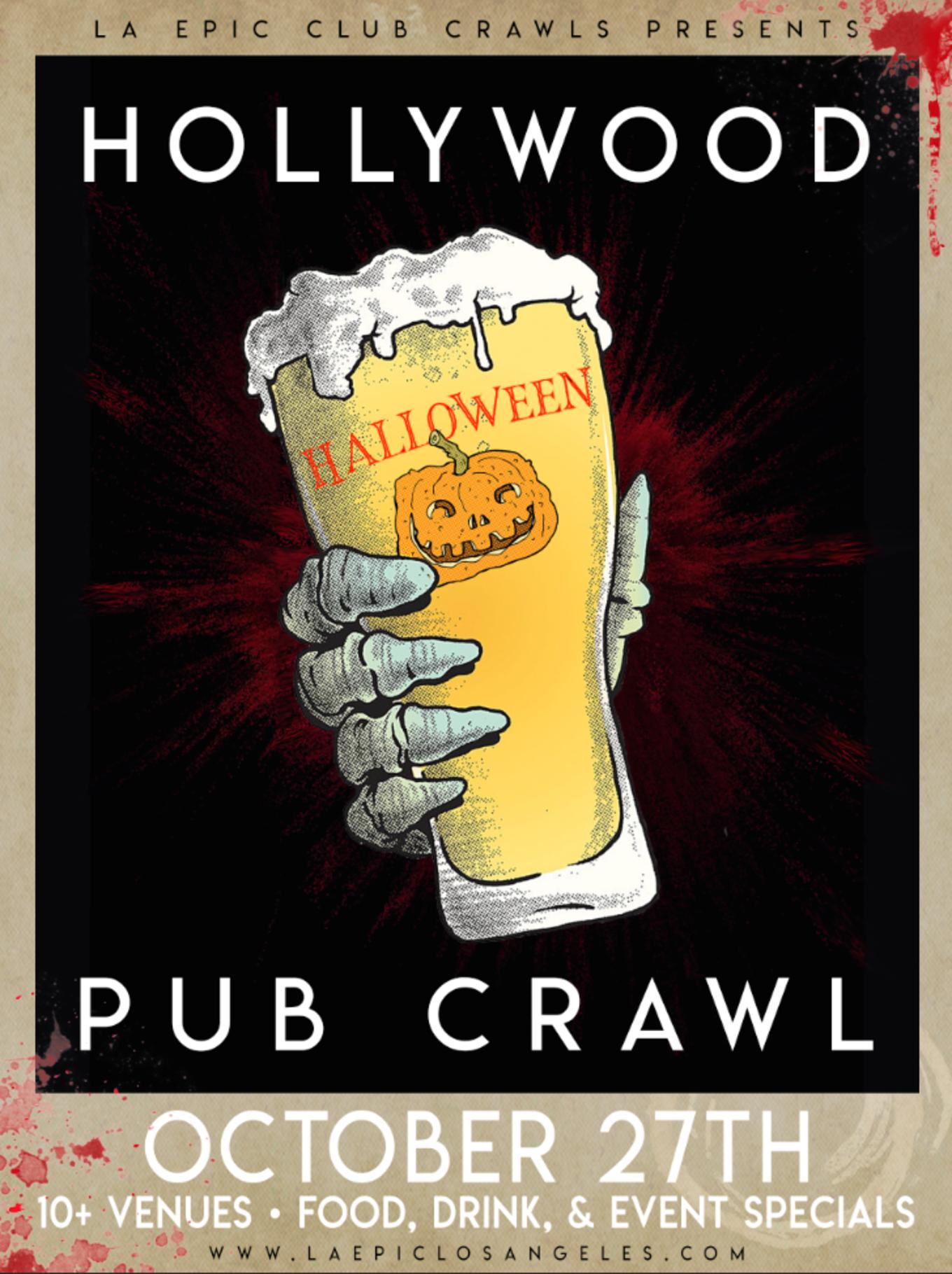 hollywood halloween pub crawl (day crawl) - tickets - cabo cantina