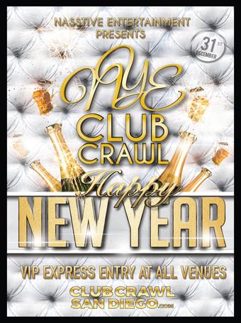 NYE 2019 CLUB CRAWL TO FLUXX
