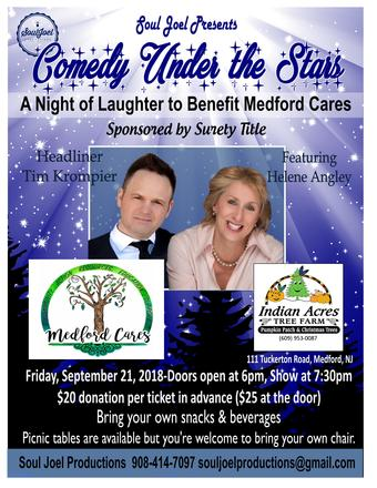 Comedy Night Charity Show at Indian Acres for Medford Cares