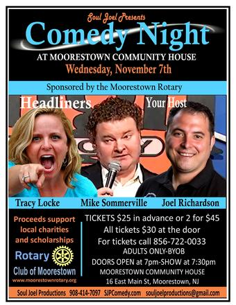 Moorestown Rotary Comedy Night