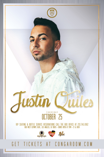Conga Room presents Justin Quiles