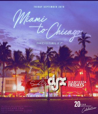 Vida 27: Ladies Night Miami to Chicago