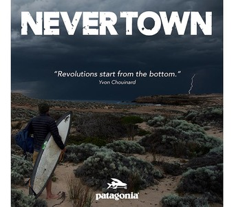 Patagonia: Never Town Film Screening presented live by Dave Rastovich, Wayne Lynch and Dan Ross.