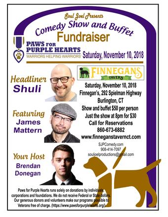 Burlington, CT:  Paws 4 Purple Hearts Fundraiser