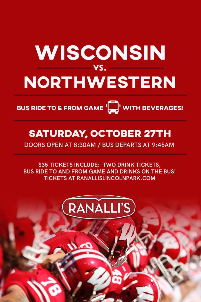 Wisconsin vs. Northwestern Bus Trip 2018