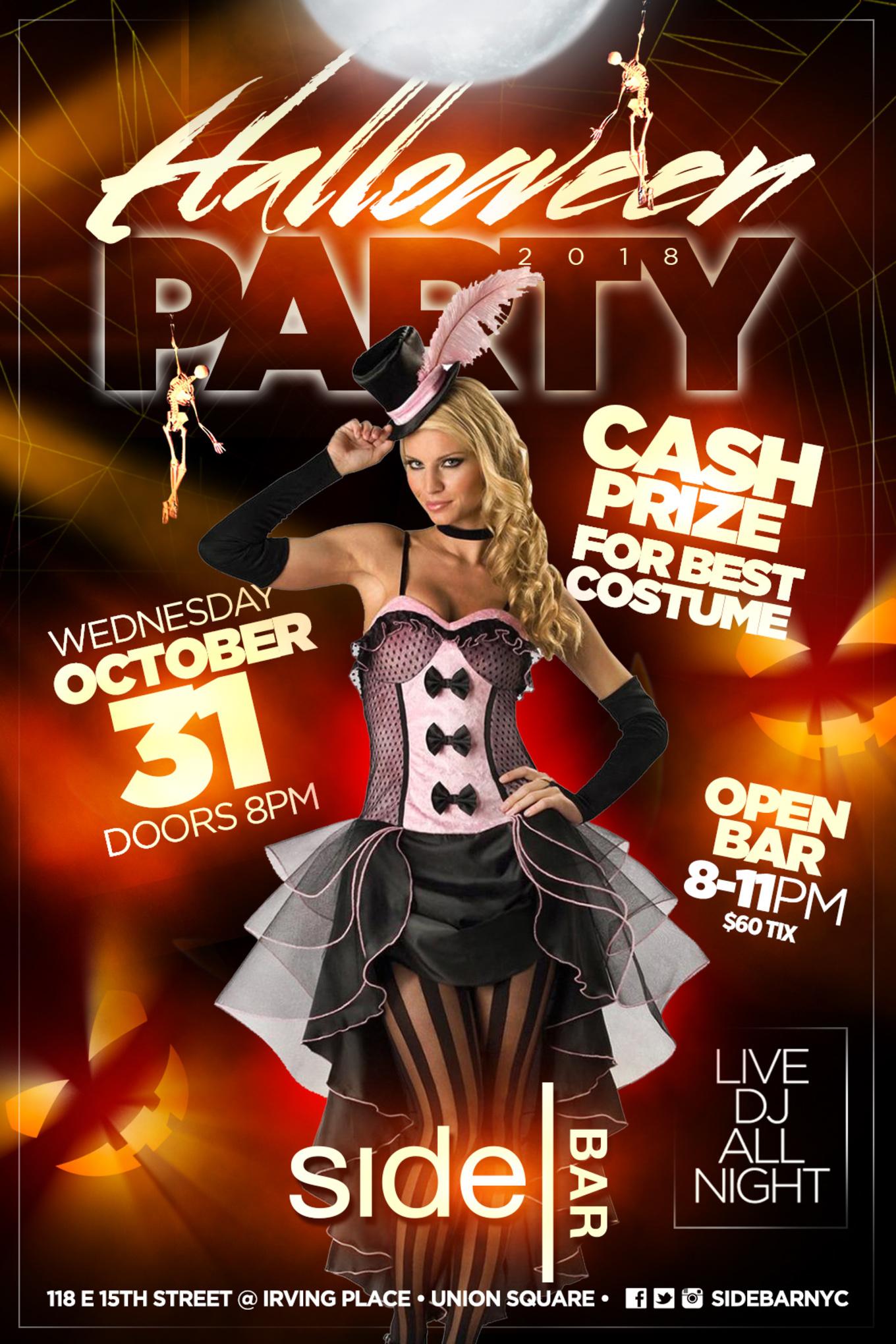 sidebar halloween party - tickets - sidebar, new york, ny - october