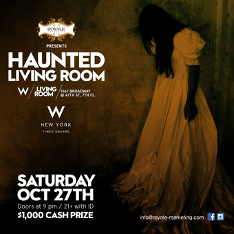 Haunted Living Room at W New York - Times Square ($1,000 giveaway)