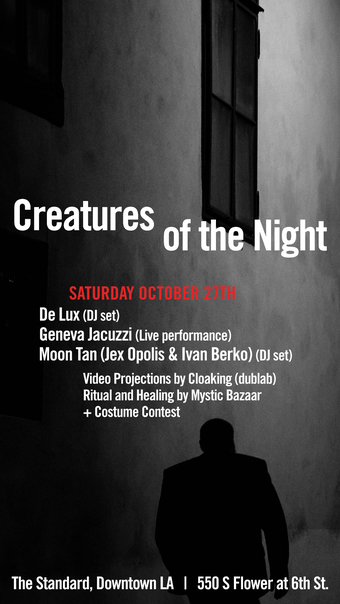 Creatures of the Night Halloween Weekend with De Lux, Geneva Jacuzzi & Moon Tan