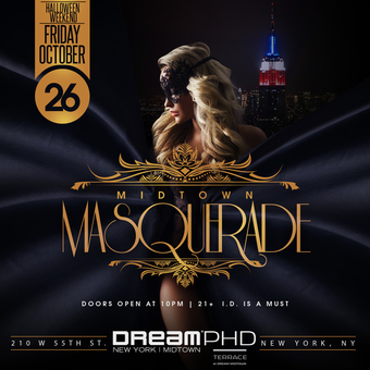 Midtown Masquerade Halloween Party at PHD Terrace