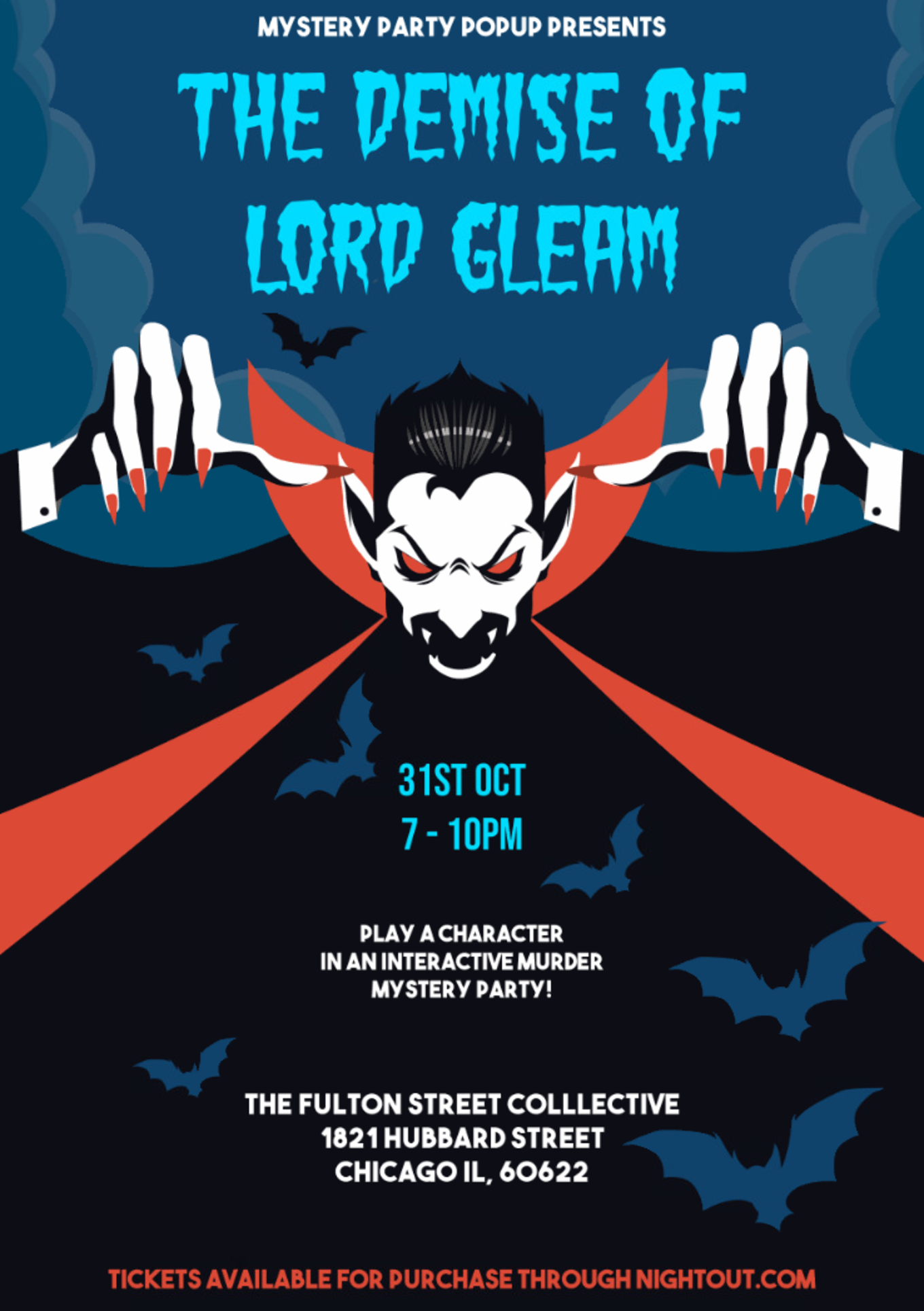 mystery party popup halloween '18 - tickets - the fulton street