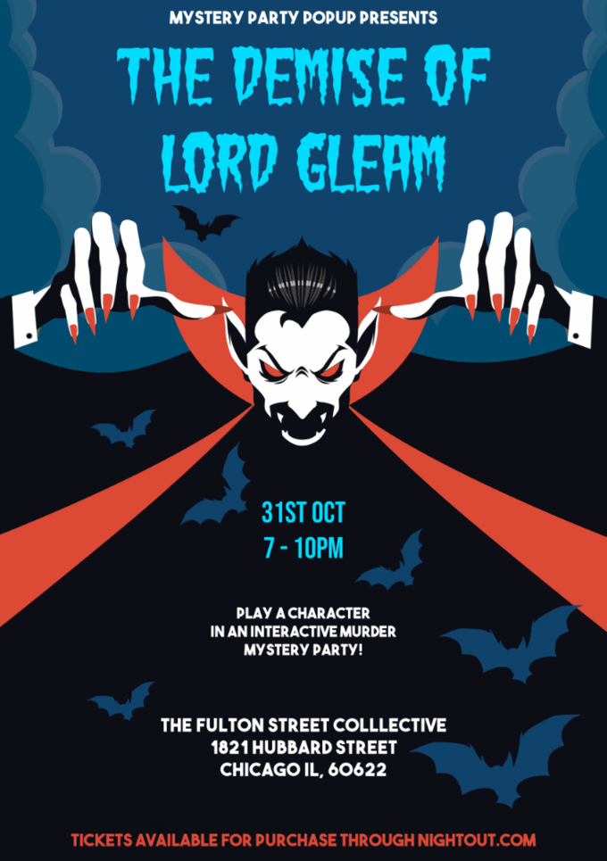 Mystery Party Popup Halloween '18