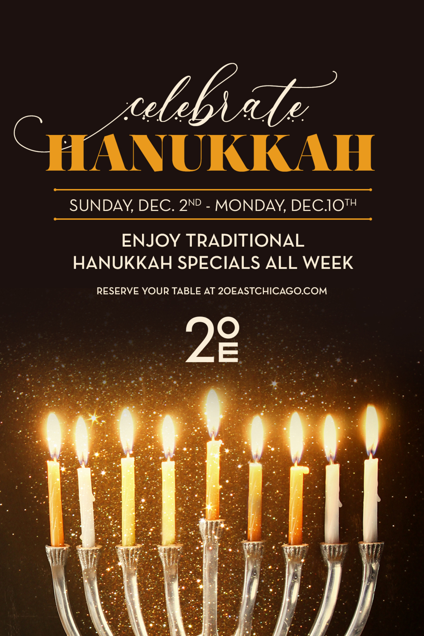 happy hanukkah 20 east at the talbott chicago il december 2 2018