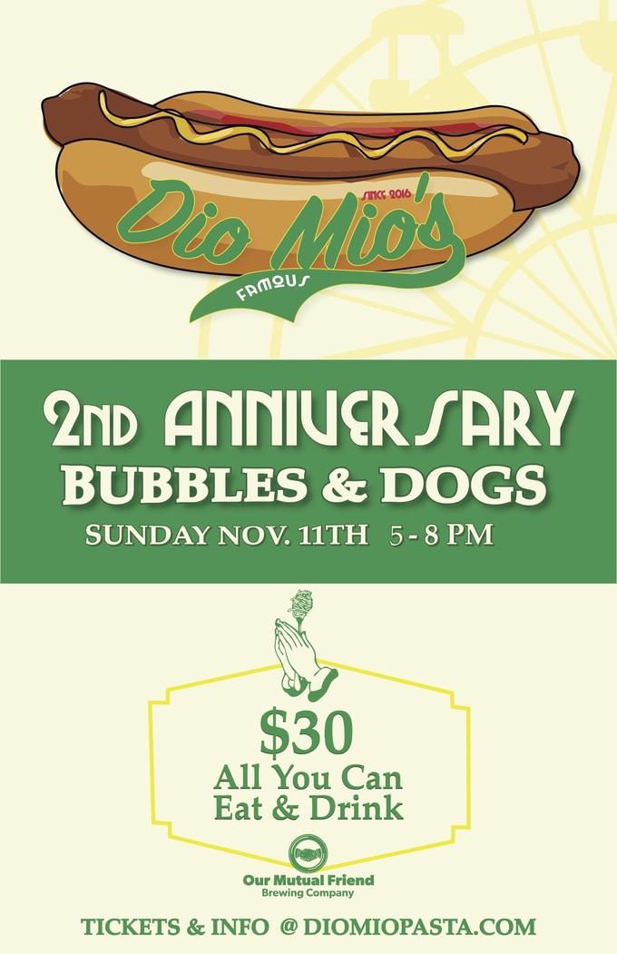 Hot Dogs + Bubbles (Dio Mio's 2nd Anniversary)