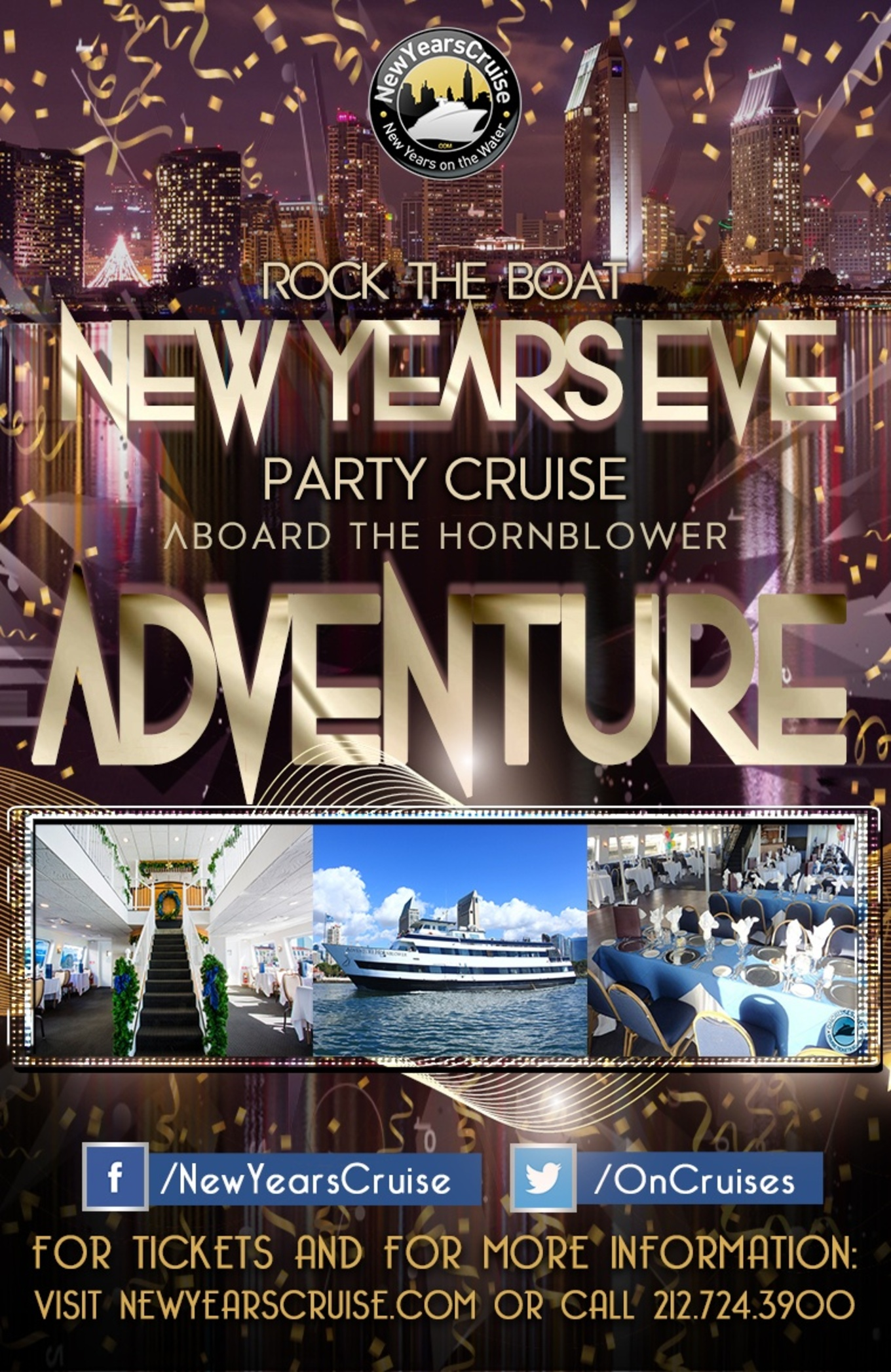 Rock The Boat New Year S Eve Party Cruise Aboard The Hornblower