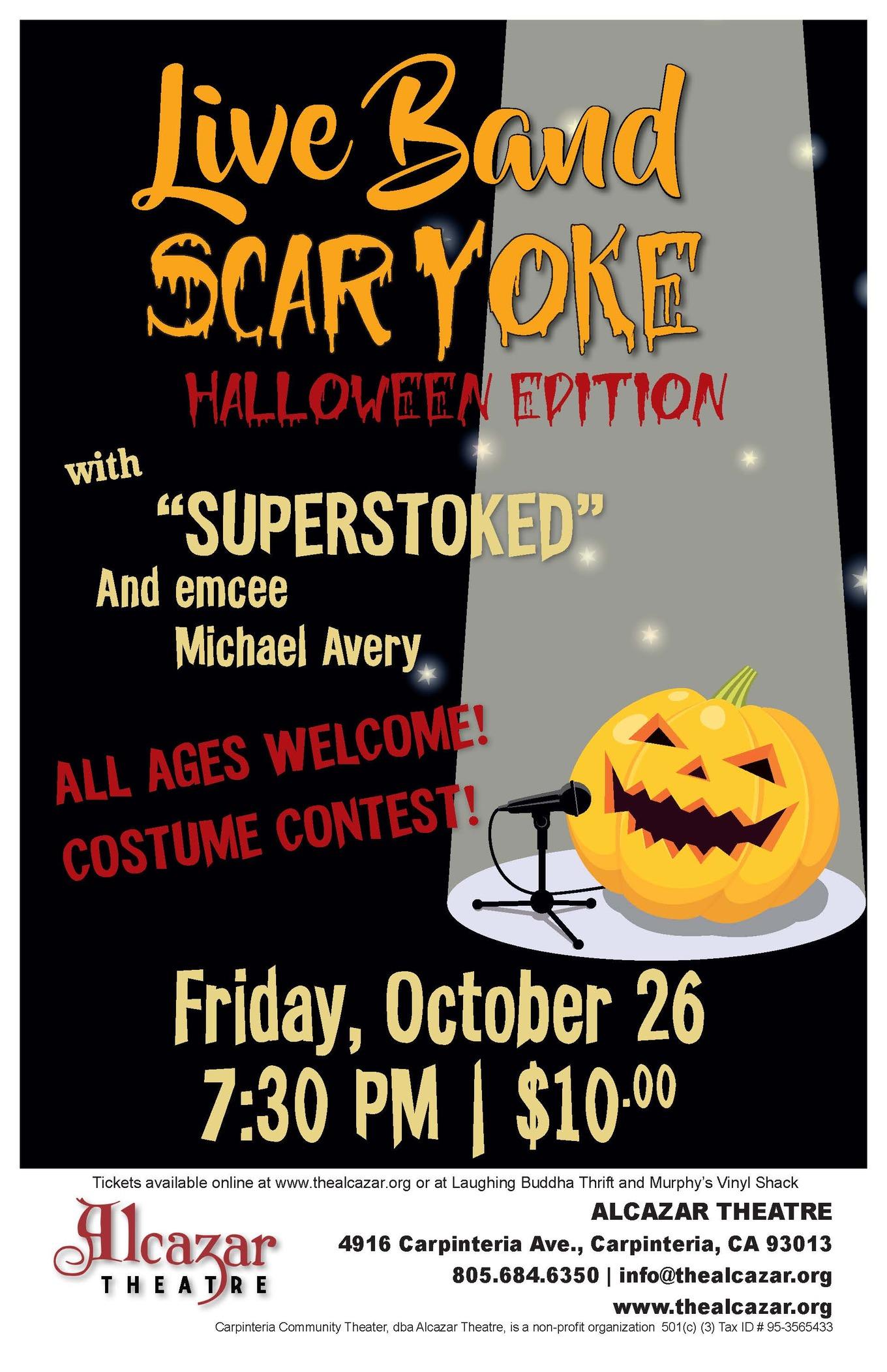 Live Band Scaryoke - Tickets - Alcazar Theatre, Carpinteria