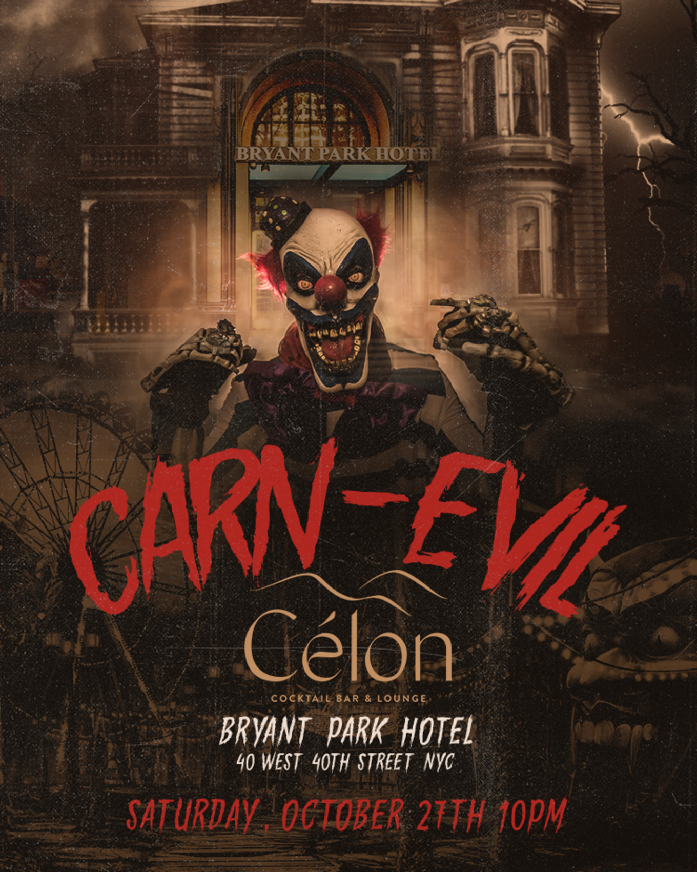 Carn-EVIL at The Bryant Park Hotel - Tickets - The Bryant