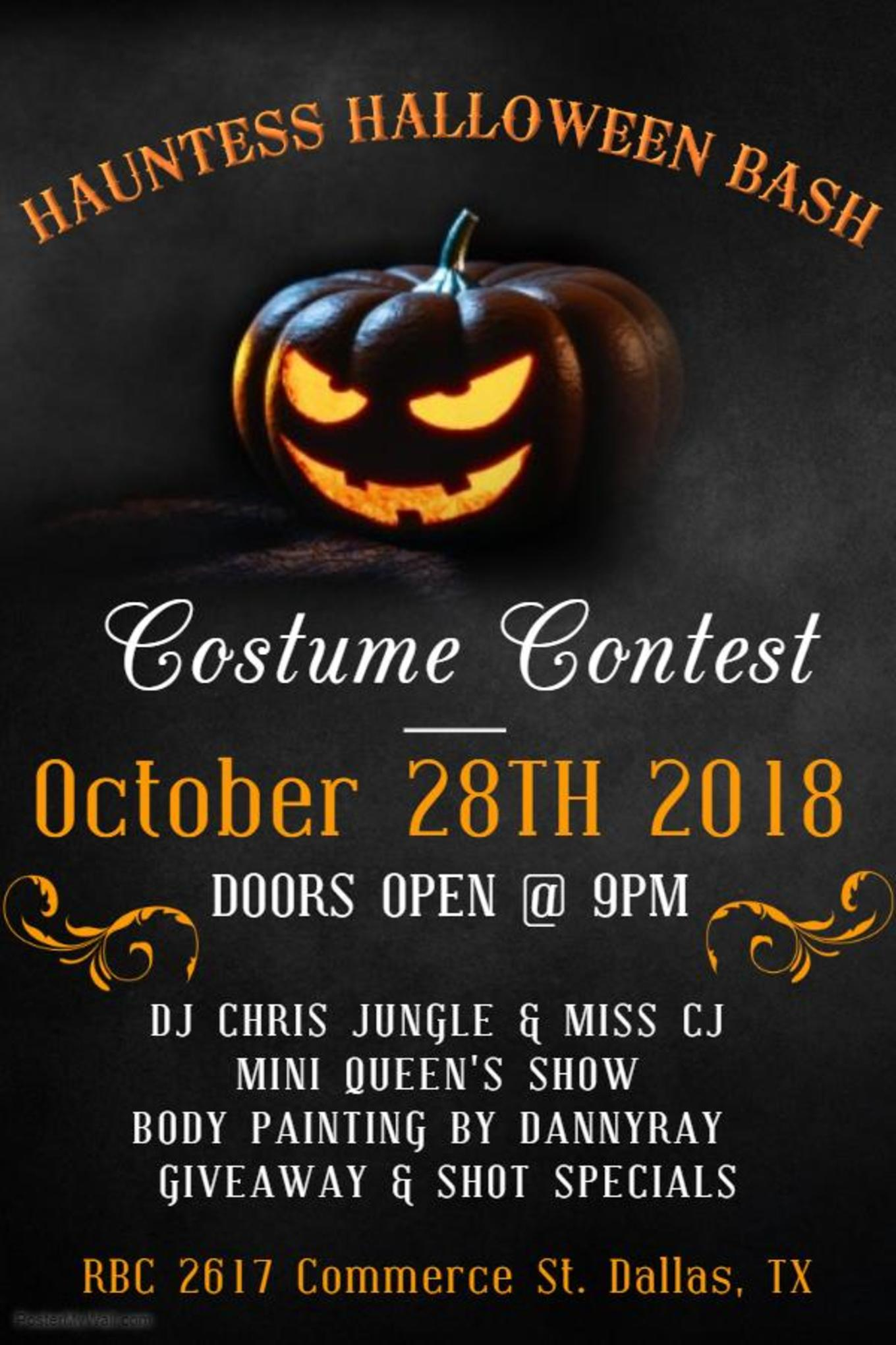 hauntess halloween bash - tickets - rbc, dallas, tx - october 28, 2018