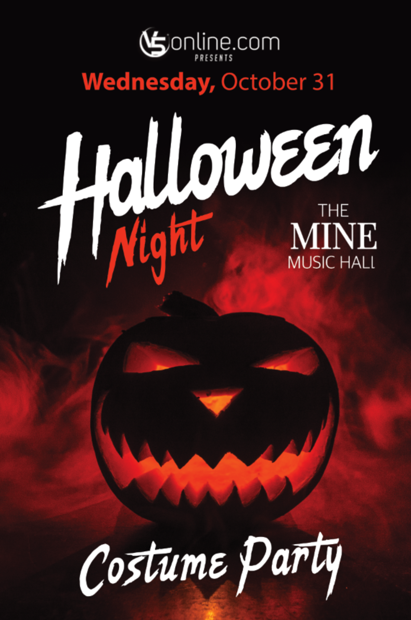 halloween night at the mine - tickets - the mine music hall, chicago