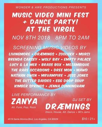 Music Video Mini Fest + Dance Party