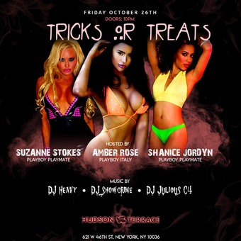 Tricks or Treats at Hudson Terrace (w/ Playmates Amber Rose, Suzanne Stokes and Shanice Jordyn)