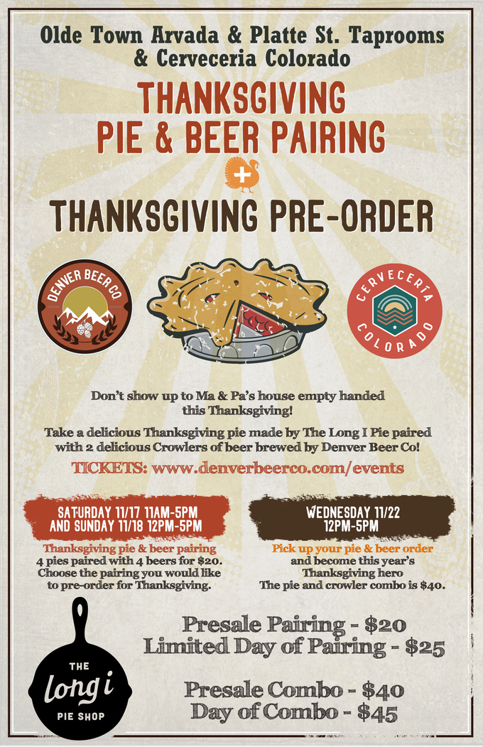 Thanksgiving Pie and Beer Pairing Both Taprooms!