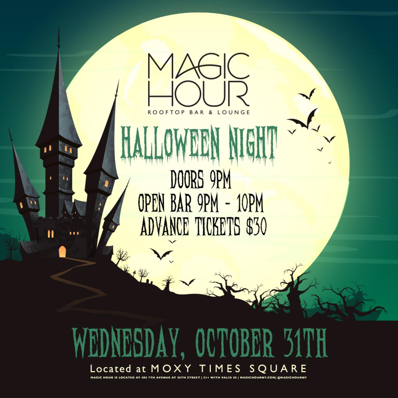 Halloween Night Tickets Magic Hour Rooftop Bar