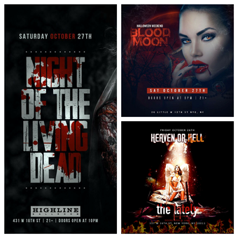Ultimate Meatpacking Halloween Party Pass To 3 Venues!!!