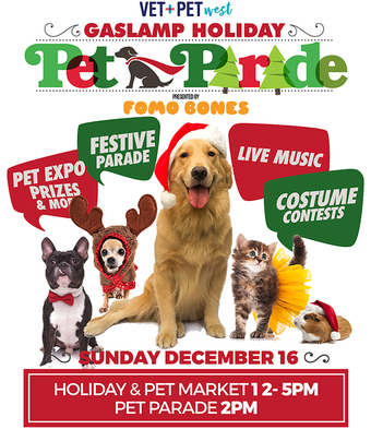 11th Annual Vet+Pet West Gaslamp Holiday Pet Parade presented by FOMO Bones