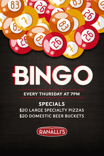 Thursday Night Bingo at Ranalli's