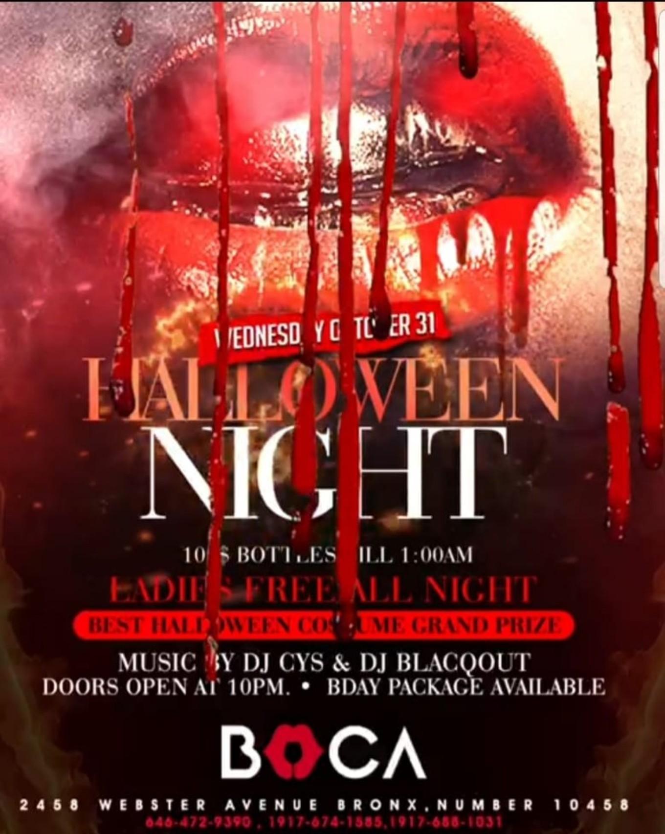 Halloween Night Party At Boca Nightclub - Tickets - Boca