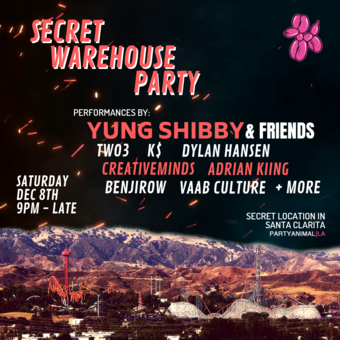 PartyAnimalLA: Secret Warehouse Party