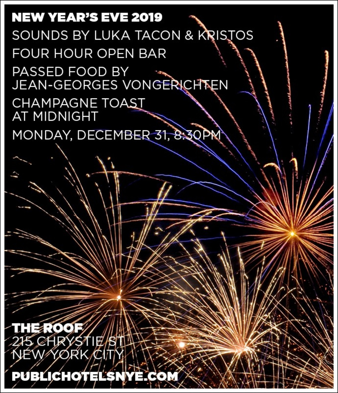 New Year's Eve 2019 at THE ROOF - Tickets - THE ROOF at Public Hotel