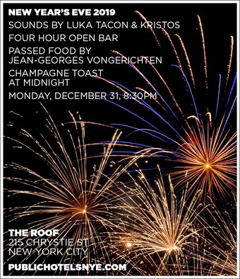 New Year's Eve 2019 at THE ROOF