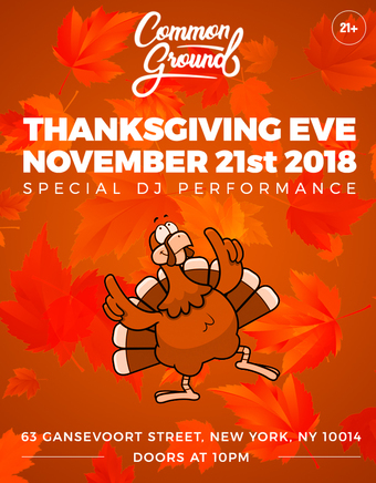 Thanksgiving Eve 2018 @ Common Groundbar